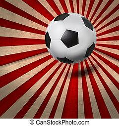 足球, 足球,  BAC, 鮮艷, 光線