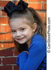 Sparkling eyes - Beautiful young girl's eyes sparkle as she...