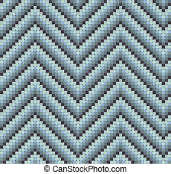 Seamless 60s Retro Zigzag Pattern Cool