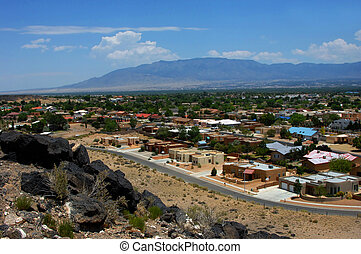 Albuquerque from Petroglyph Park - Overlook at the...