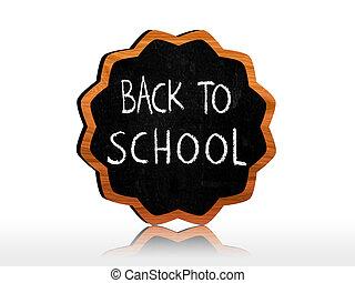 back to school on starlike blackboard