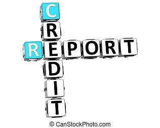 3D Credit Report Crossword
