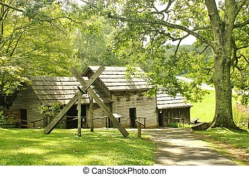Mabry Mill - side view - An oposite side view of Mabry Mill,...