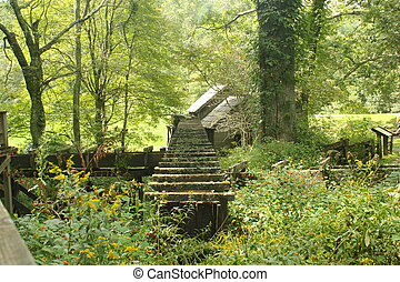 Mabry Mill in summer 2 - Mabry Mill is an old grist mill on...