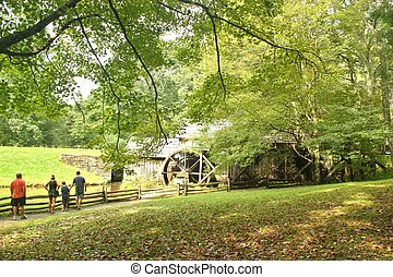 Mabry Mill in summer - Mabry Mill is an old grist mill on...