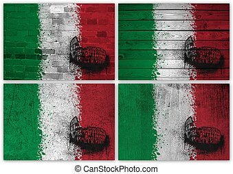 Italian flag collage