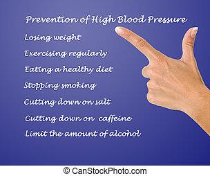 Prevención, alto, sangre, presión