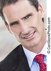 Portrait Middle Aged Man or Businessman - Portrait of a...