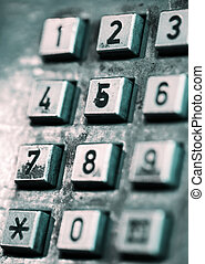 Buttons of an old-style public phone - The buttons of an...