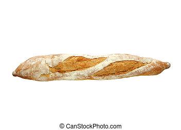 Baguette - Fresh baguette, isolated on white.  Mmmmm!