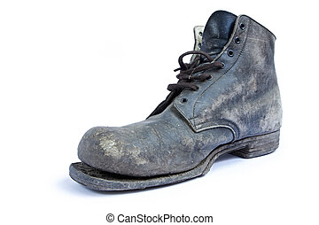 Old Boot - Vintage boot, losing its sole Well-worn since the...