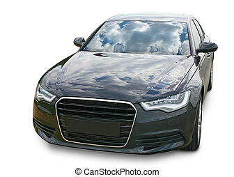 dark car on white background - Luxury dark car on white...