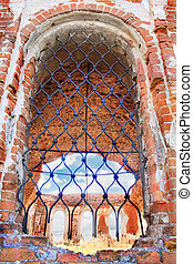 Window of the old destroyed church - Window of the old...