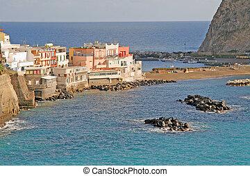 italy, campania, ischia,  - san angelo, village