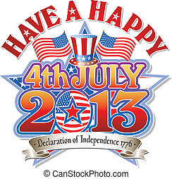 Happy 4th July 2013 Star