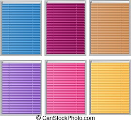 Color Venetian blind