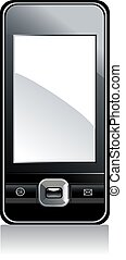 mobile phone with white screen