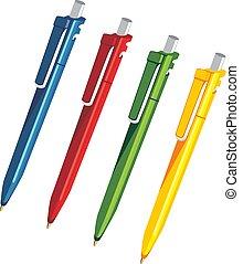 plastic pens vector