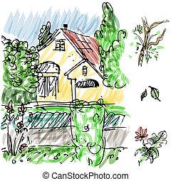 Garden House Sketch
