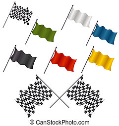 Racing Flag Set - An image of a set of racing flags