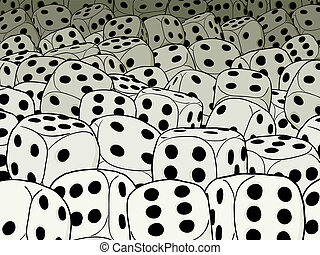 Abstract gambling composition - dices - An abstract...