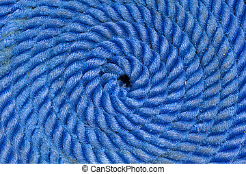 Ship rope texture wave closeup background helix Swirl blue...