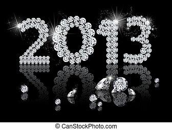 brillant, nouveau, année, 2013