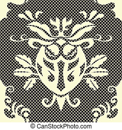 Beautiful vector seamless damask pattern