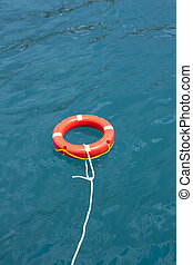 Safe circle with rope. - Safe water support aid circle with...