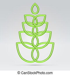 Green vegetation symbol - Green wire vegetation symbol...