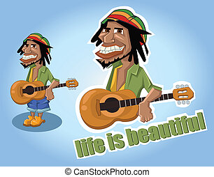 Life is beautiful - A lively and cheerful person