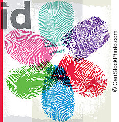 Finger print id Vector illustration