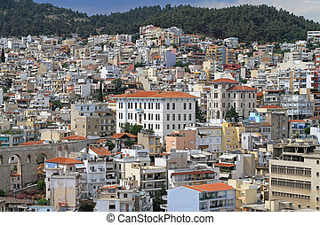 Kavala city - Residential part of Kavala city in Greece