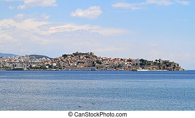 Kavala cityscape - Panoramic cityscape of Kavala city at...