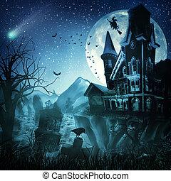 abstratos, dia das bruxas, fundos, seu, desenho