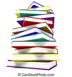 Stack Of Books Representing Learning And Education - Stack...