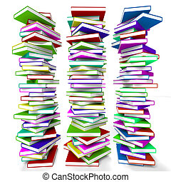 Stacks Of Books Representing Learning And Education