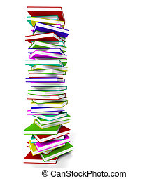 Stack Of Books With Copy Space Representing Learning And Education