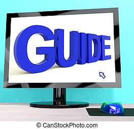 Guide Word On Computer Shows Guidance Or Training - Guide...