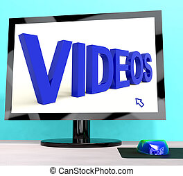Videos Word On Computer Showing Dvd Or Multimedia
