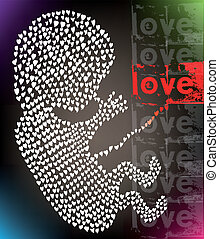 fetus made with love vector illustration