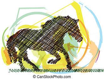 Abstract Stallion. Vector illustration