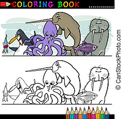 Marine and Sea Life Animals for Coloring