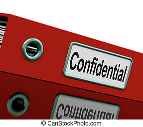 Confidential File Shows Private Correspondence Or Documents...