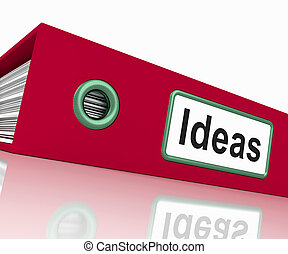 Ideas File Showing Concepts Or Creativity