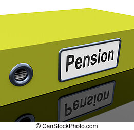 Pension File Contains Retirement Documents And Records -...