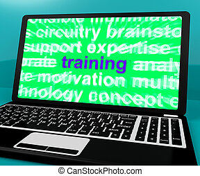 Online Training Computer Message Shows Web Learning - Online...