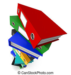 Stack Of Files For Getting Organized - Stack Of Files For...