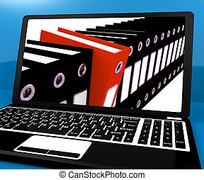 Red File Amongst Black For Getting Organized On Computer -...