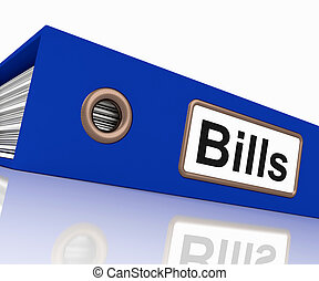 Bills File Shows Accounting And Payments Due - Bills File...